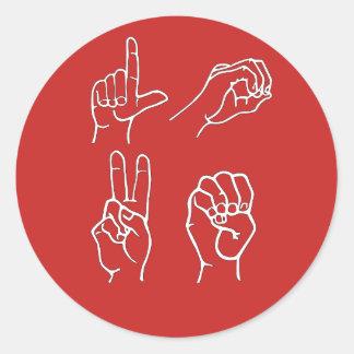 Autocollants d'amour d'ASL