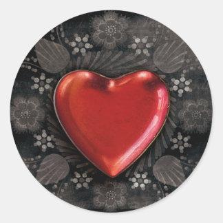 autocollants d'amour de coeur de goth