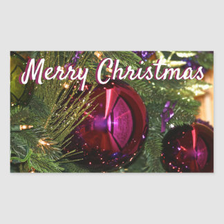 Autocollants d'ampoules d'arbre de Joyeux Noël de
