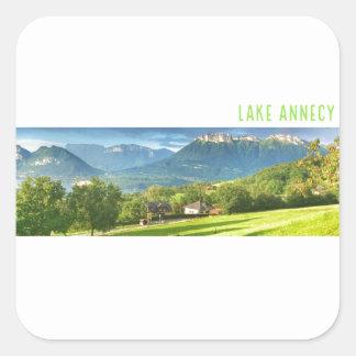 Autocollants d'Annecy de lac (carré)