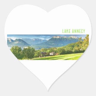 Autocollants d'Annecy de lac (coeur)