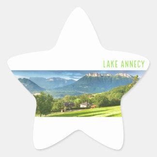 Autocollants d'Annecy de lac (étoile)
