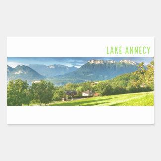 Autocollants d'Annecy de lac (rectangle)