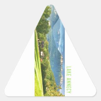 Autocollants d'Annecy de lac (triangle)