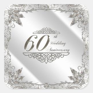 Autocollants d'anniversaire de mariage de diamant