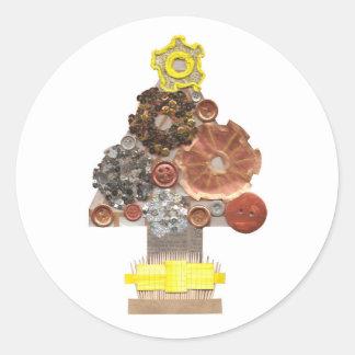 Autocollants d'arbre de Noël de Steampunk