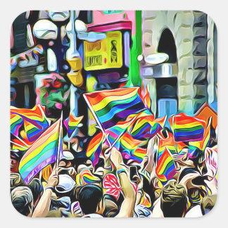 Autocollants d'arc-en-ciel de LGBT et de