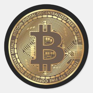 Autocollants d'argent de Bitcoin Cryptocurrency