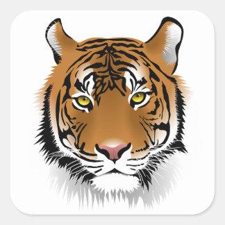Autocollants d'art de visage de tigre