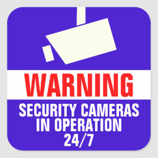 Autocollants d'avertissement de caméra de sécurité