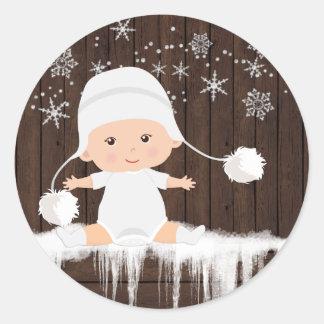 Autocollants de baby shower de flocon de neige