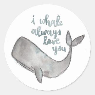 Autocollants de baleine