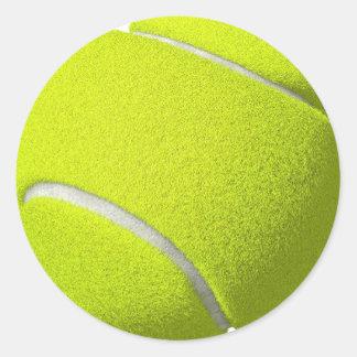 Autocollants de balle de tennis (ajoutez le texte