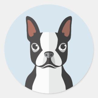 Autocollants de Boston Terrier