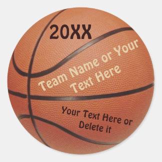 Autocollants de boule de basket-ball, type ANNÉE,