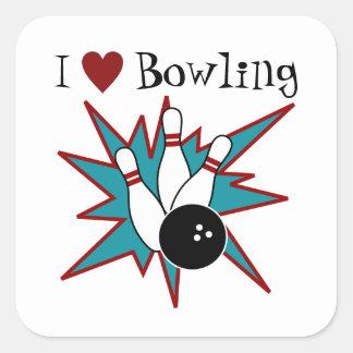 Autocollants de bowling du coeur I