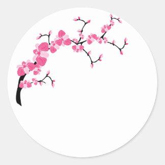 Autocollants de branche d'arbre de fleurs de ceris
