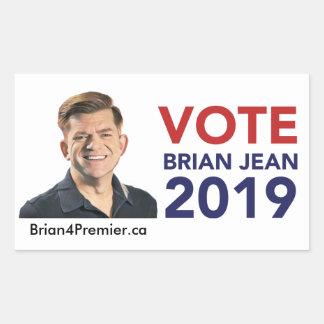 Autocollants de Brian Jean de vote