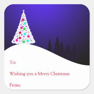 Autocollants de cadeau d'arbre de Noël