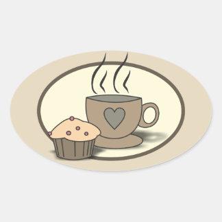 Autocollants de café et de petit pain pour des