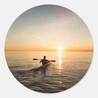 Autocollants de canoë de kayak de coucher du