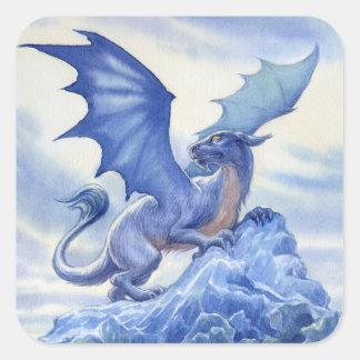 Autocollants de carré de dragon de glace