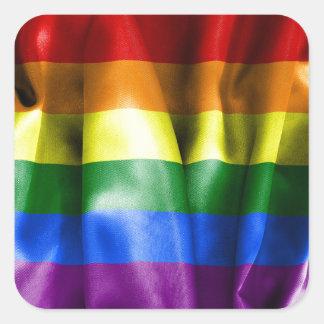 Autocollants de carré de drapeau de gay pride