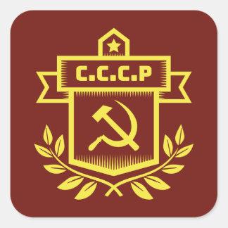 Autocollants de carré d'emblème de CCCP