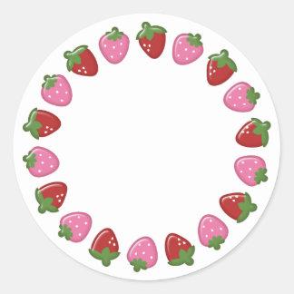 Autocollants de cercle de fraise