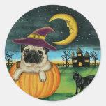 Autocollants de chien de carlin de Halloween