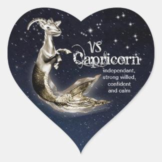 Autocollants de coeur de Capricorne