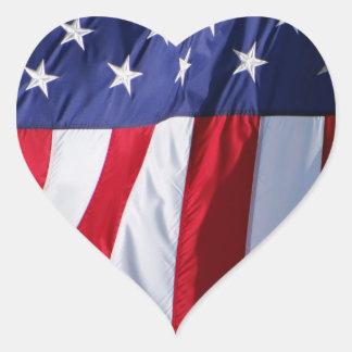 Autocollants de coeur de drapeau américain