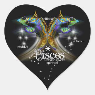 Autocollants de coeur de Poissons