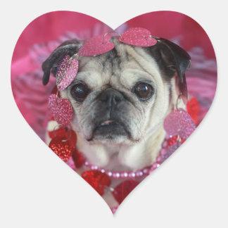 Autocollants de coeur de Valentine de carlin