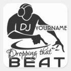 Autocollants de coutume du DJ