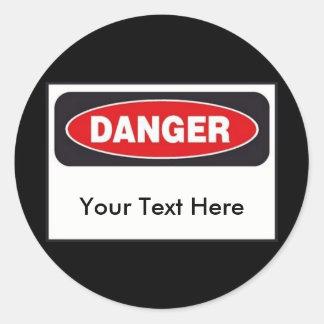 Autocollants de danger - personnaliser