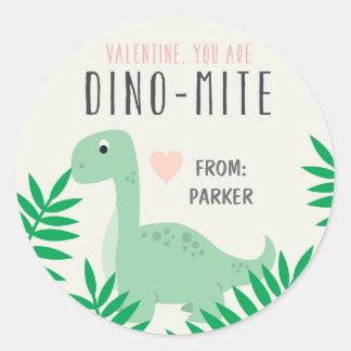 Autocollants de dinosaure de Valentine de salle de