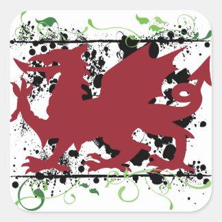 Autocollants de dragon de Gallois