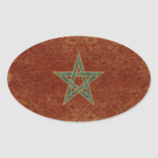Autocollants de drapeau du Maroc