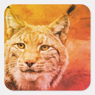 Autocollants de faune de chat sauvage