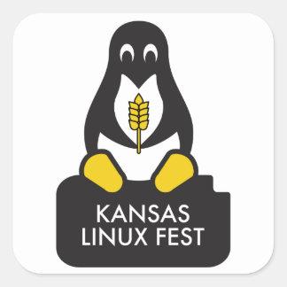 Autocollants de Fest du Kansas Linux