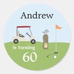 Autocollants de fête d'anniversaire de golf