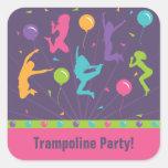 Autocollants de fête d'anniversaire de trempoline
