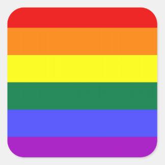 Autocollants de fierté de LGBT (carré)