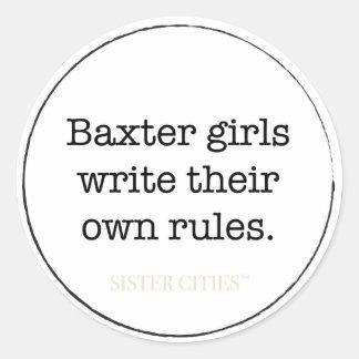 """Autocollants """"de filles de Baxter"""" - 6 PK"""