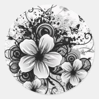 Autocollants de fleur