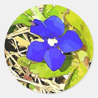 Autocollants de fleur de gentiane de bleu royal