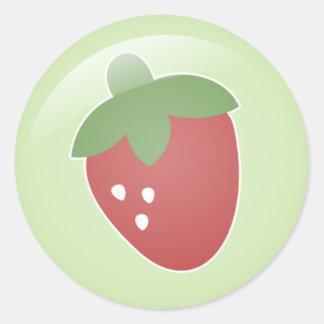 Autocollants de fraise