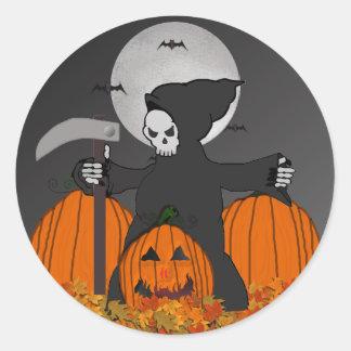 Autocollants de Halloween de faucheuse