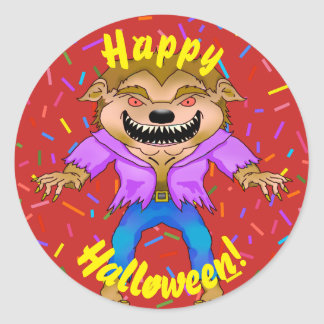 Autocollants de Halloween de loup-garou